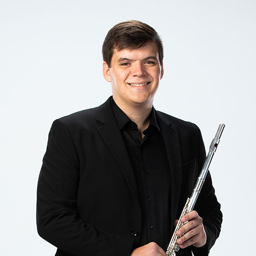 Headshot of flutist Austin Brown
