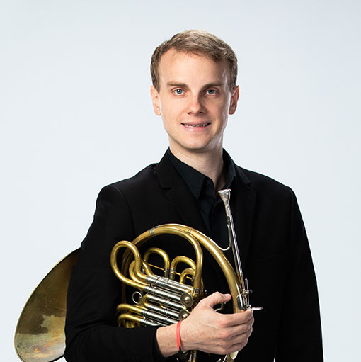 Headshot of French Horn musician Austin Larson