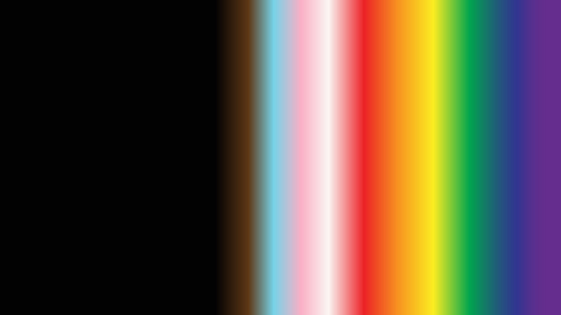 Pride flag colors in a gradient