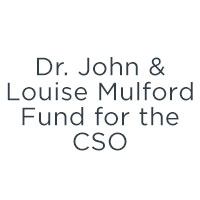 Dr. John & Louise Mulford Fund for the CSO logo