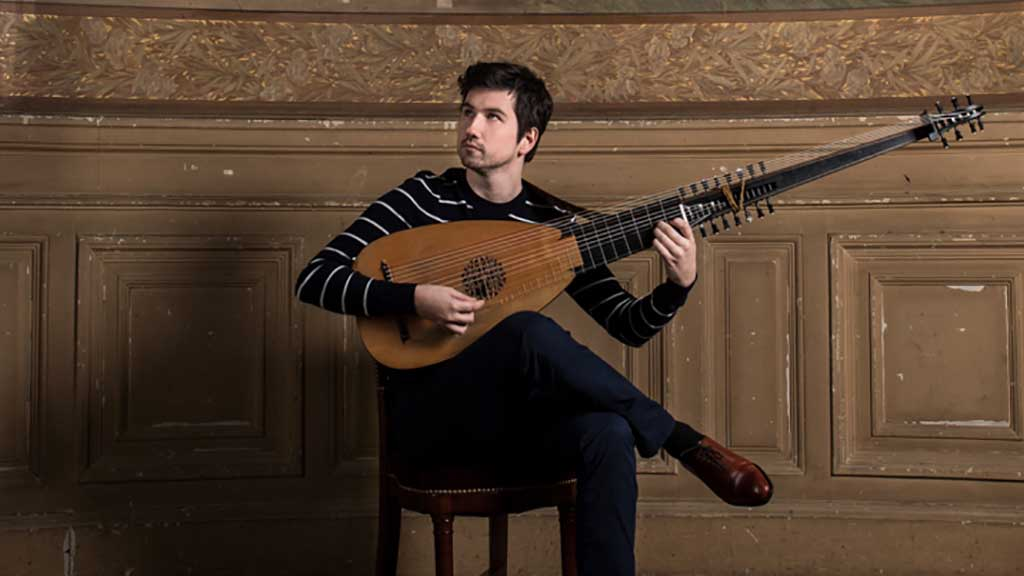 Musician Thomas Dunford poses with a lute