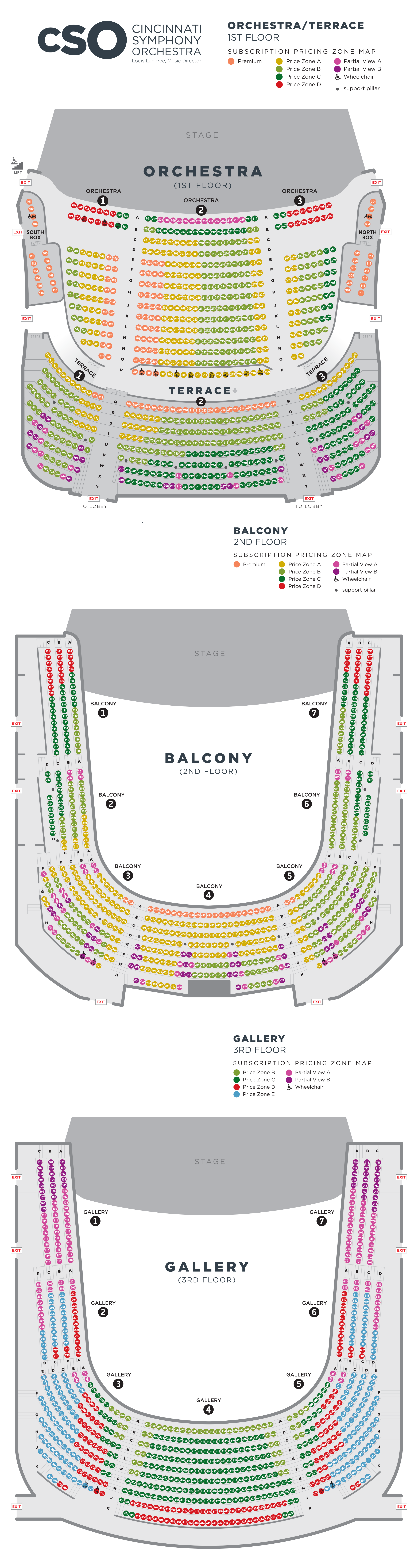 Cso Music Hall Seating Charts