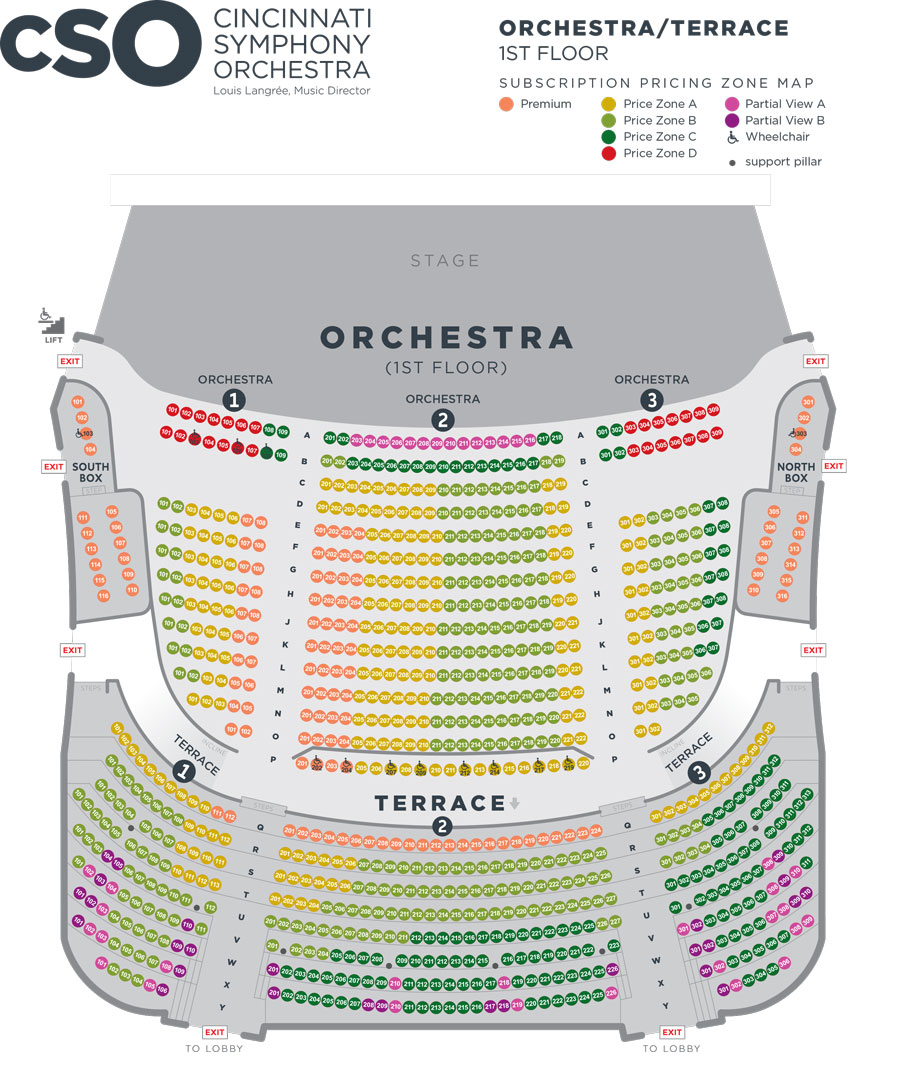Orchestra Seating Chart for CSO