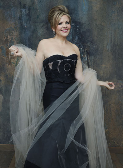Renee Fleming in a ball gown