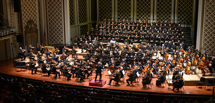 The CSO and May Festival perform on the Music Hall stage